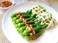 涼拌秋葵雙拼(蒜蓉醬&沙拉醬)