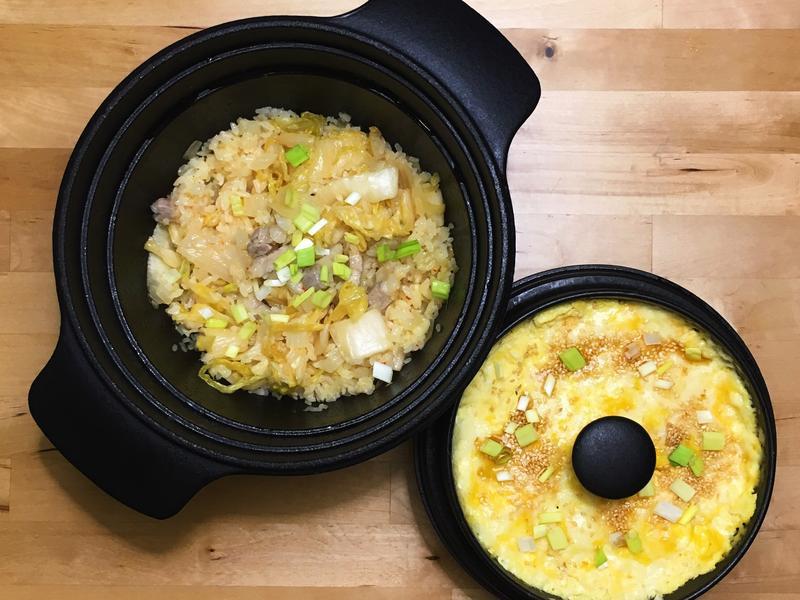 黃金泡菜炒飯+起司蛋羹