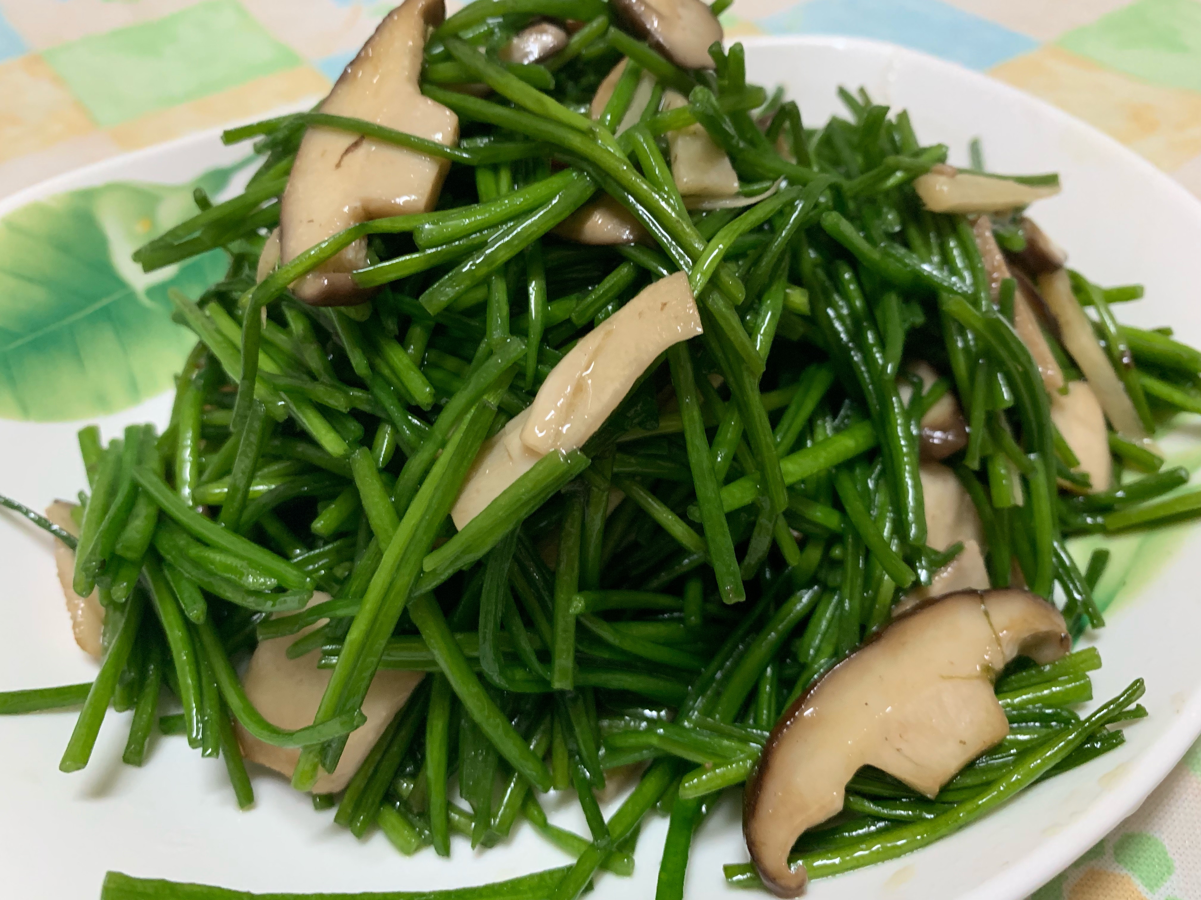 全素 香菇炒水蓮