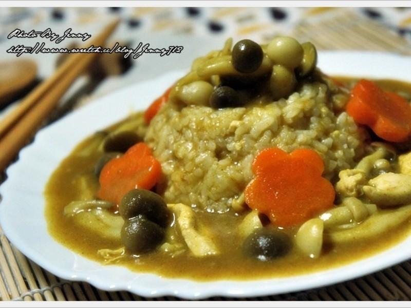 雞肉鮮菇咖哩飯