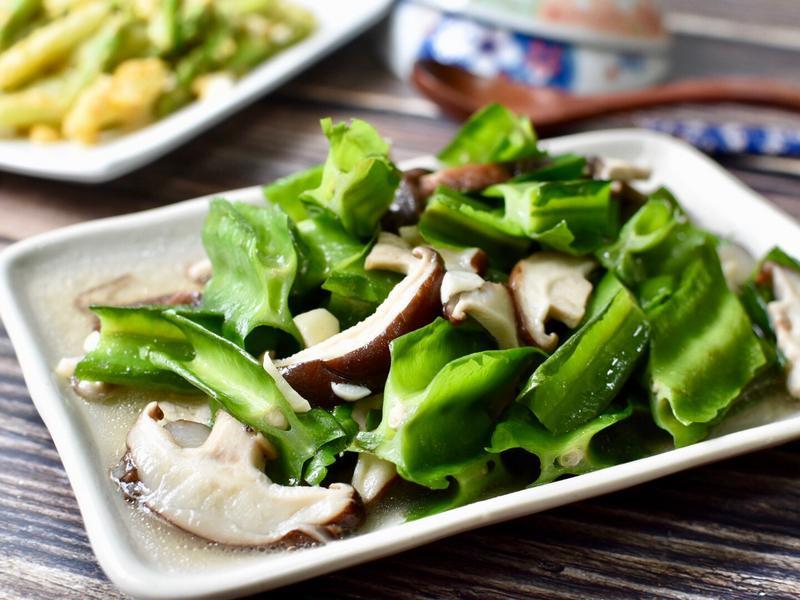 鮮菇炒楊桃豆