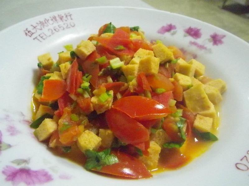 芹菜蕃茄凍豆腐