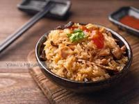 香菇麻油雞米糕【電鍋料理】【免浸泡】