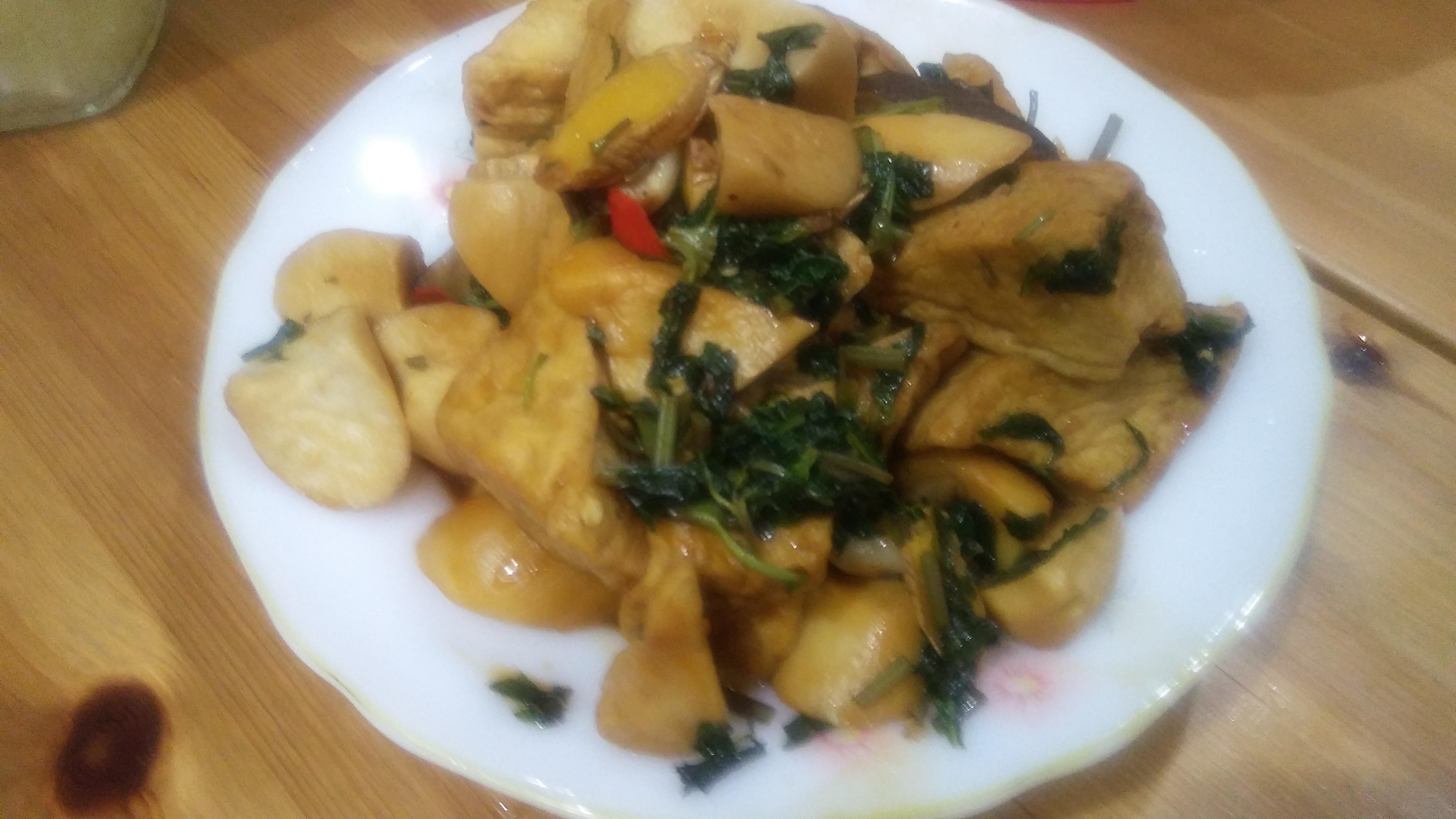 三杯什錦(杏鮑菇、油豆腐)