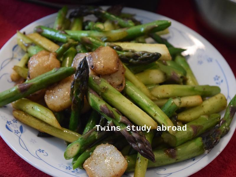魚丸炒蘆筍