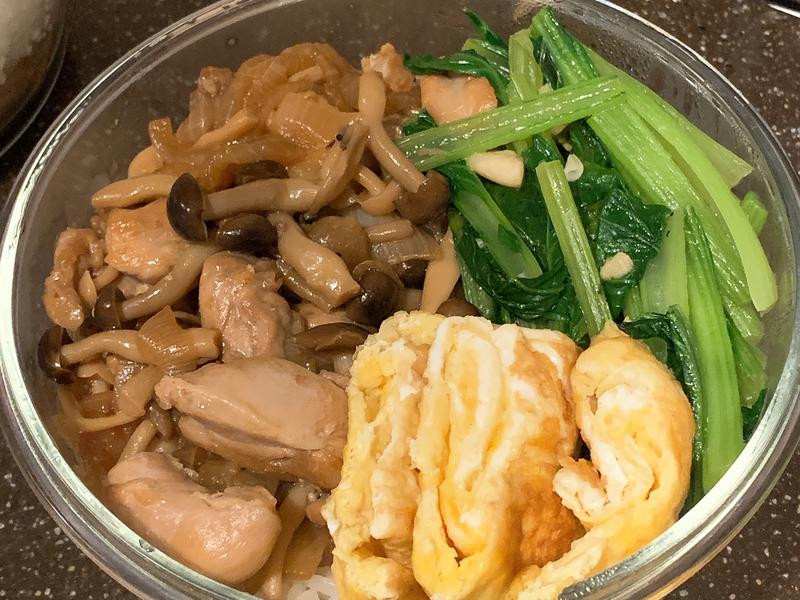 醬燒好菇雞腿丼