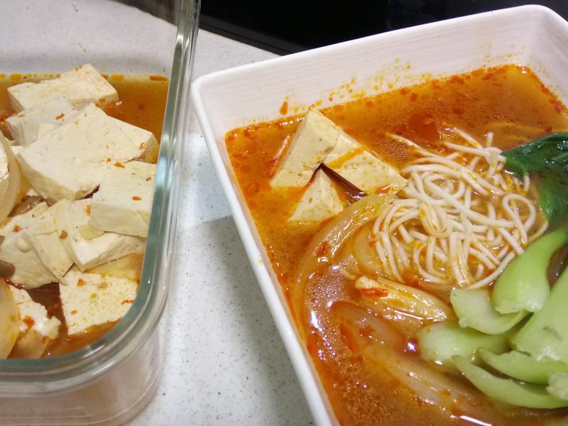 紅燒豆腐+紅燒豆腐湯麵