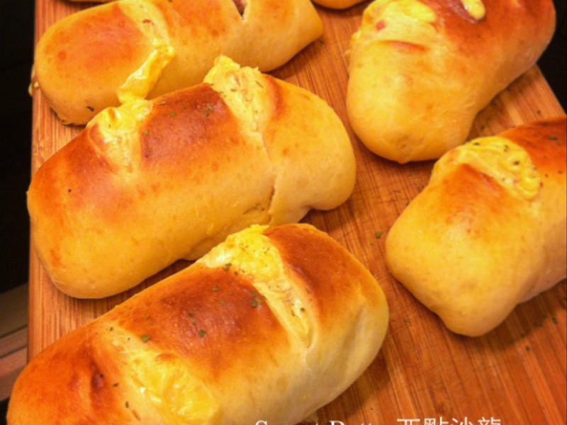 五分鐘免揉麵包~改良版  添加小麥蛋白粉