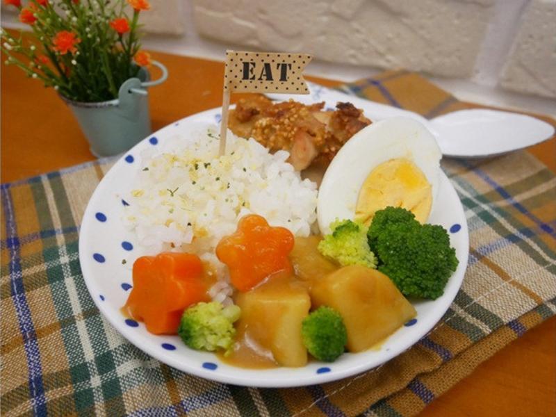 免油炸「日式炸雞咖哩飯」健康又美味 ♡