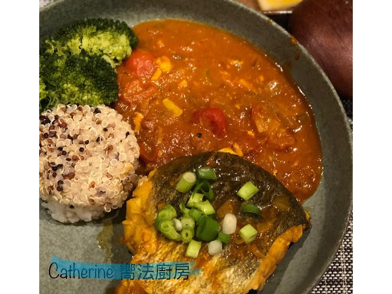 一鍋到底~鱈魚番茄咖哩藜麥飯