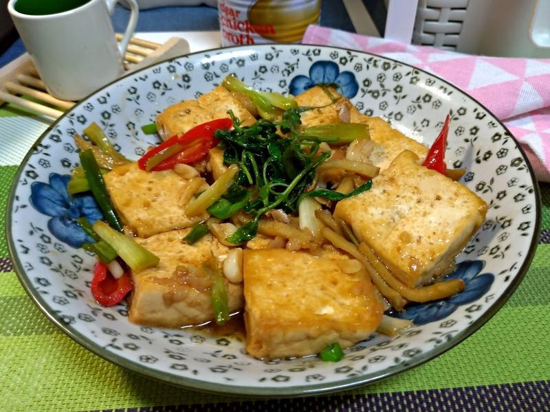 塔香三杯豆腐