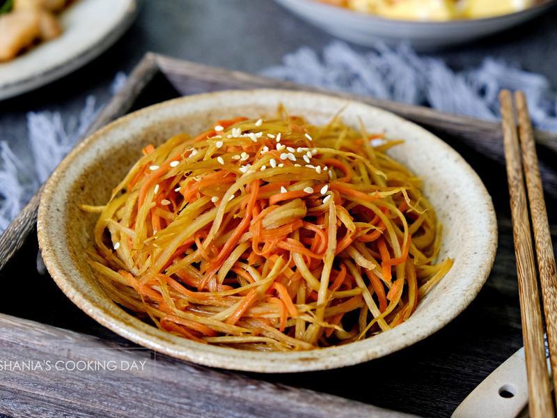 日式牛蒡蘿蔔絲 - 冰箱常備美味小菜
