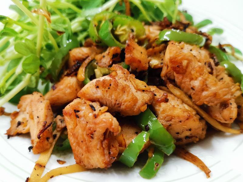 青椒炒鸡胸肉