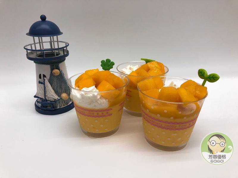 芒果優格奶酪布丁~水波爐料理