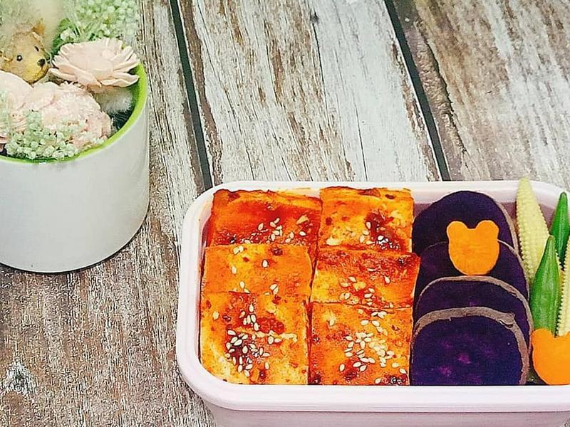 簡易便當菜 - 韓式辣醬烤豆腐