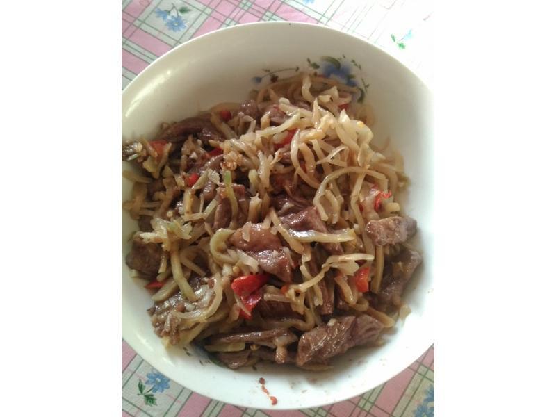 榨菜炒牛肉