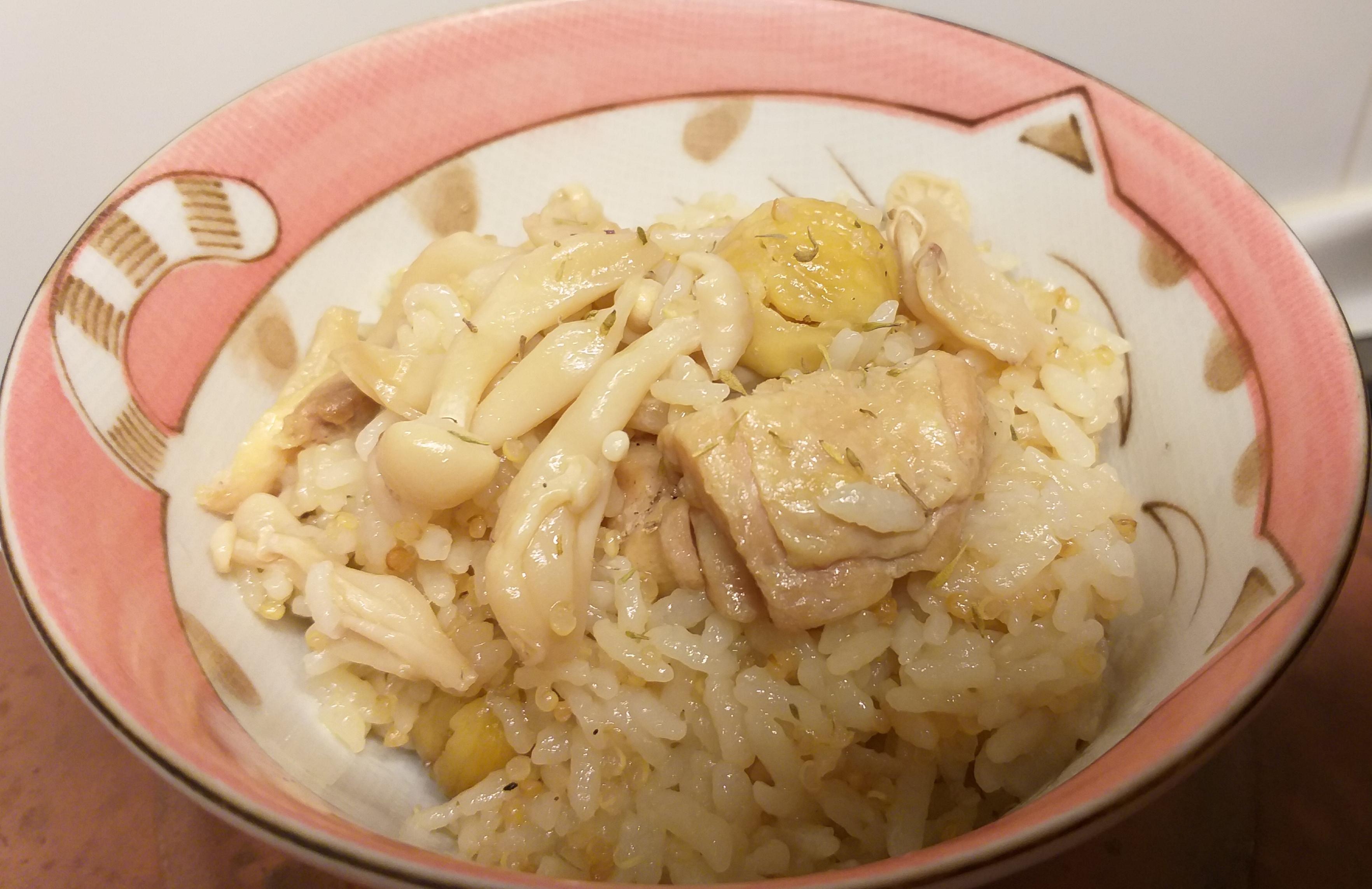 一鍋到底-栗子菇菇炊飯