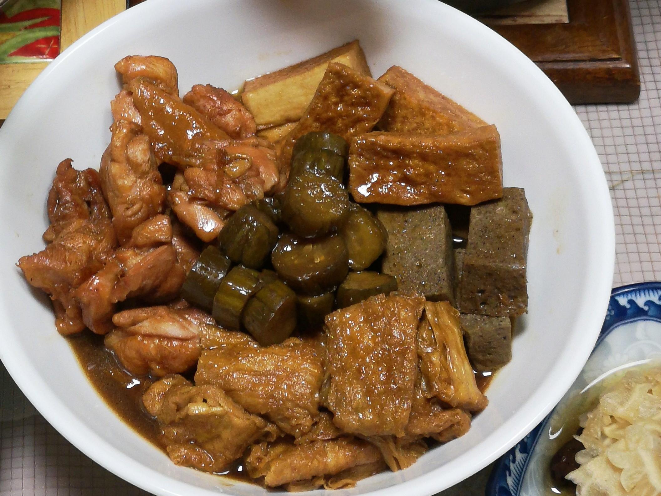 素料豆包滷雞肉