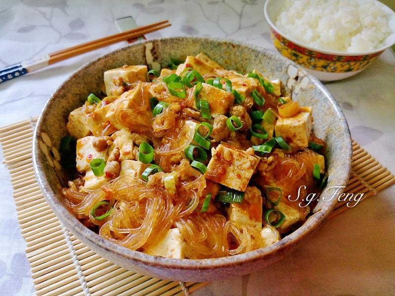 麻婆粉絲豆腐