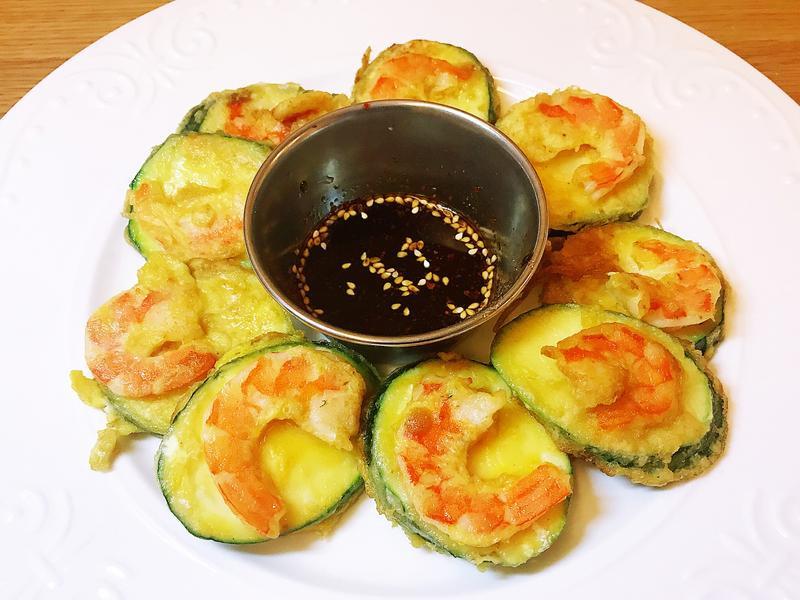 韓式鮮蝦櫛瓜煎餅