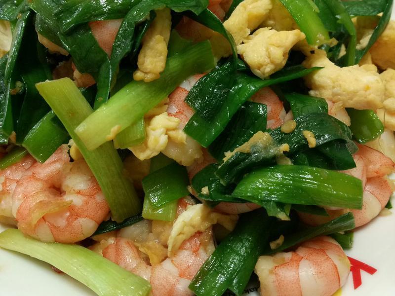 韭菜蝦仁炒蛋