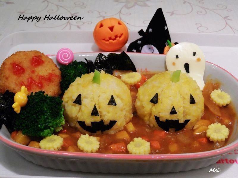 【親子食堂】Happy Halloween南瓜&可樂餅咖哩飯飯
