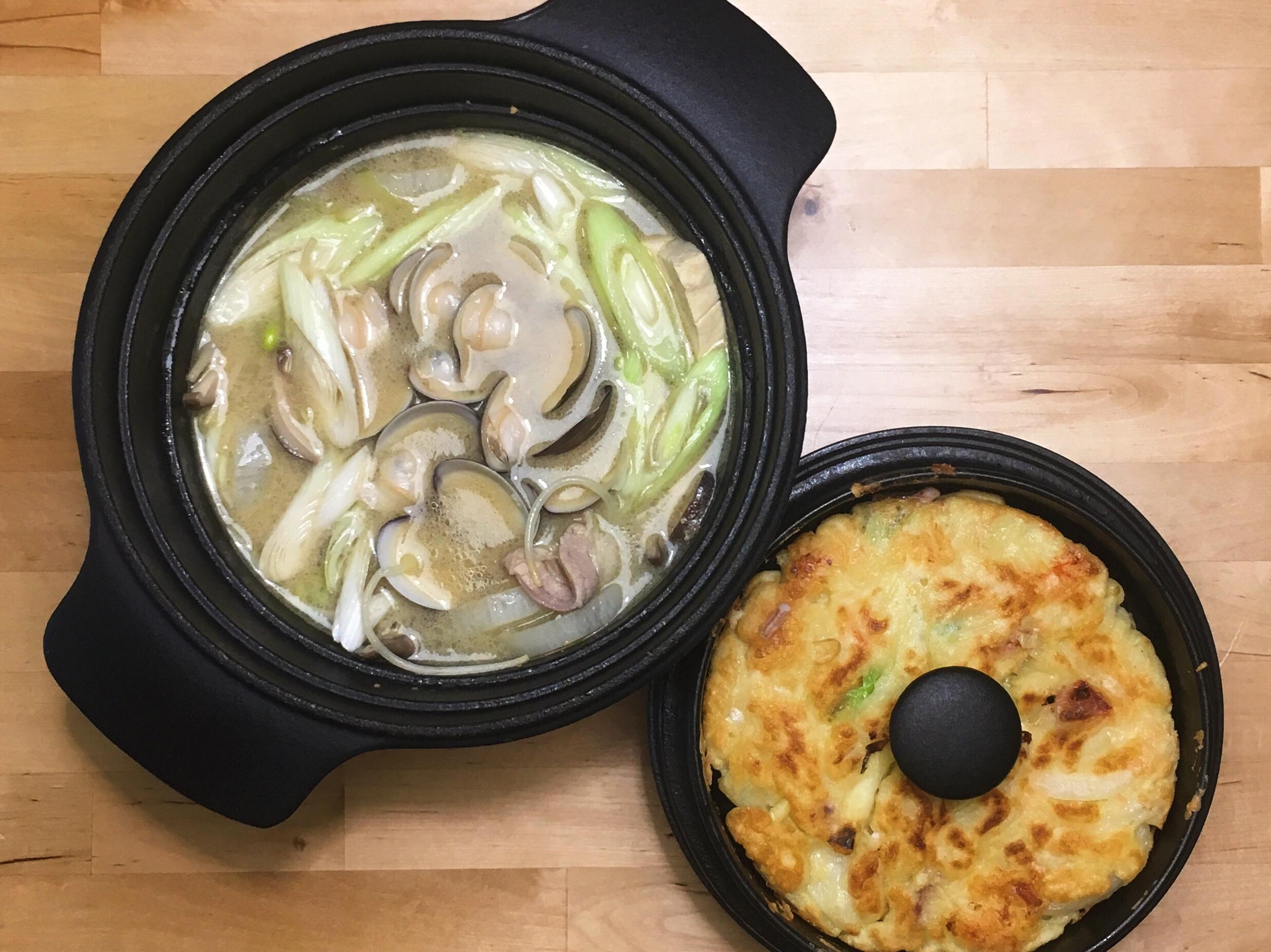 韓式豬肉大醬湯+海鮮煎餅