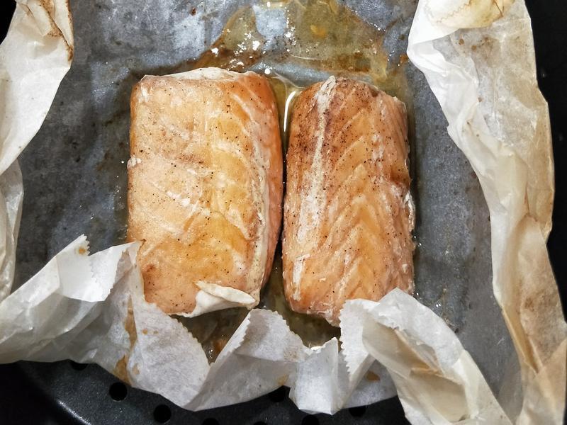 氣炸鍋-奶油煎鮭魚