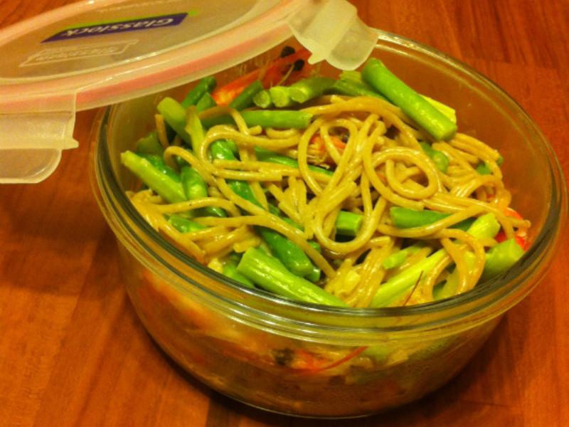 蒜香鮮蝦蘆筍義大利麵