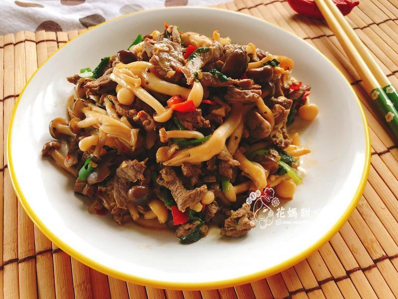 雙菇牛肉絲(好菇道營養料理)