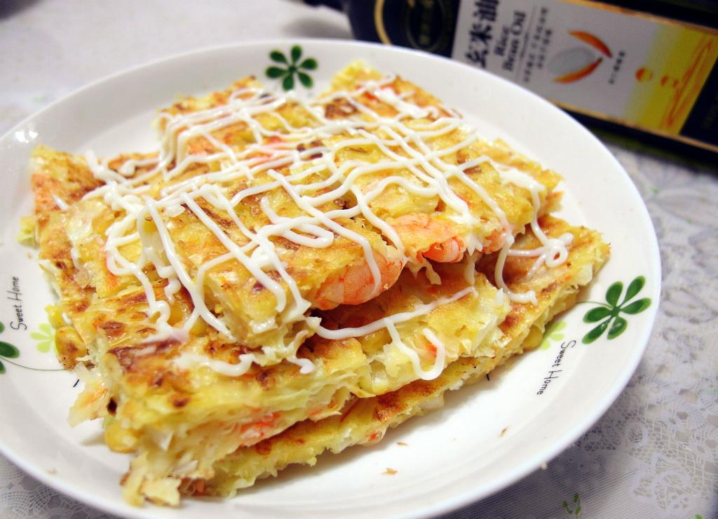 「黃金玄米油清爽料理」 鮮蝦煎餅