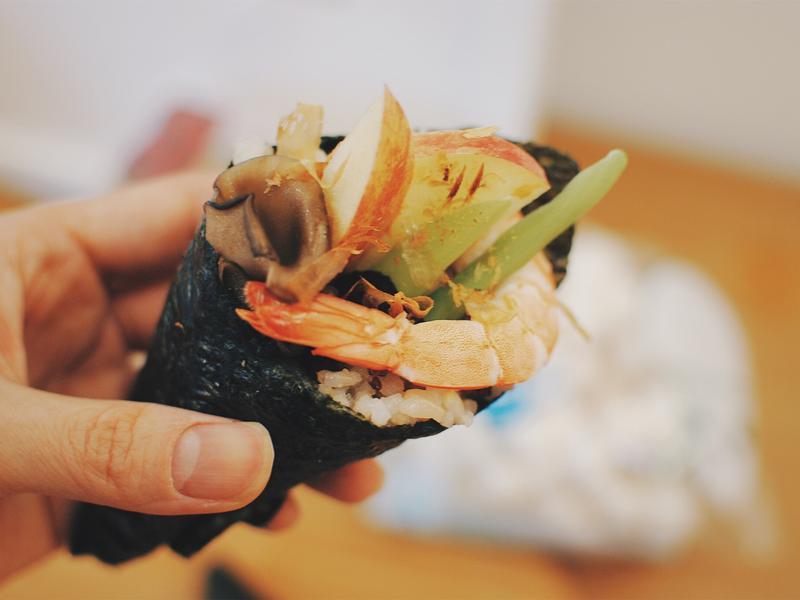 果香舞菇鮮蝦手捲「好菇道營養料理」