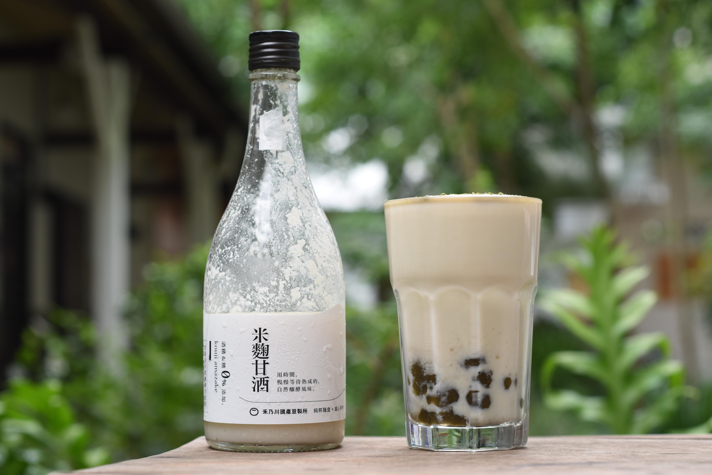 甘酒豆漿奶蓋碧螺春珍珠 禾乃川小廚房