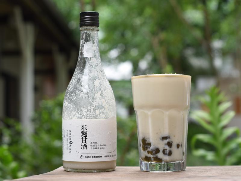甘酒豆漿奶蓋碧螺春珍珠|禾乃川小廚房