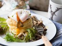 蕈菇水波蛋舒芙蕾鬆餅「好菇道營養料理」