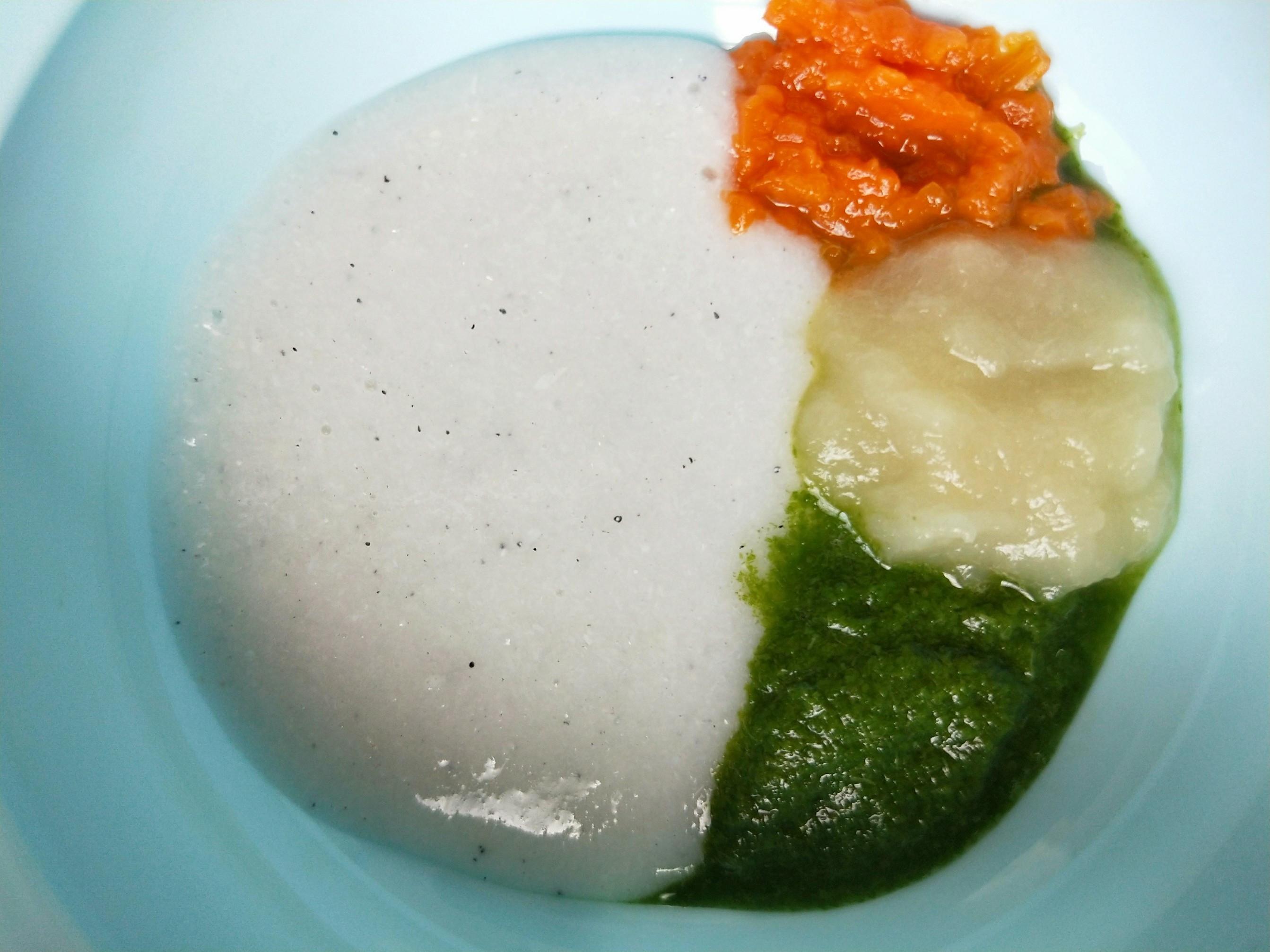 半電子鍋副食品-吻仔魚莧菜泥