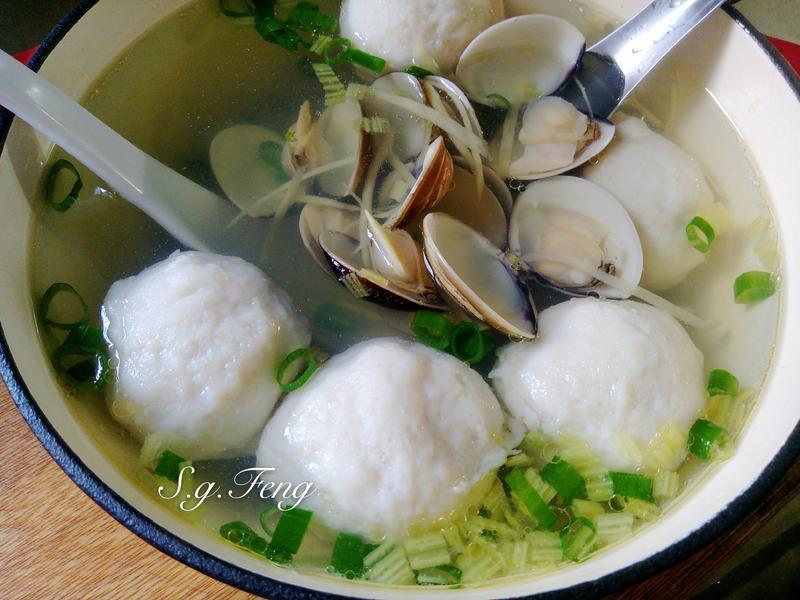肉丸子蛤蠣湯