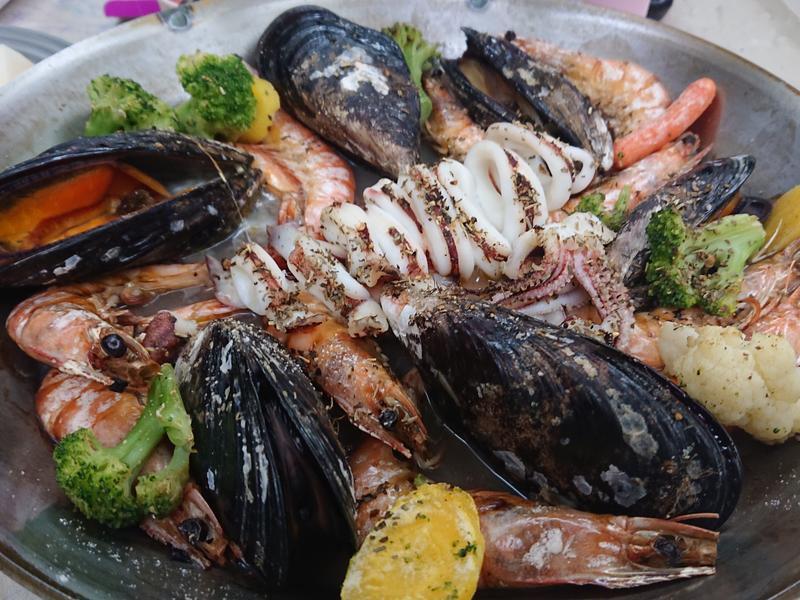 義式烤淡菜海鮮