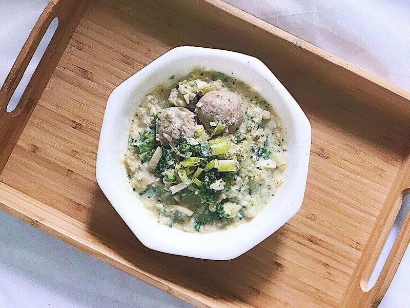 杏鮑菇花椰菜燕麥粥