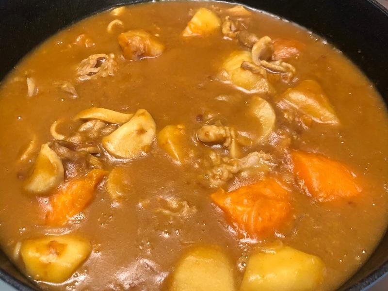 杏鮑菇咖喱鍋