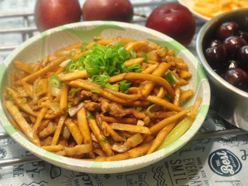 竹筍炒肉絲(不辣)