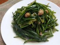 十分鐘上菜─醬漬破布子水蓮菜(素食)