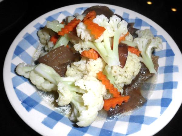 簡單做料理 - 清炒白花椰