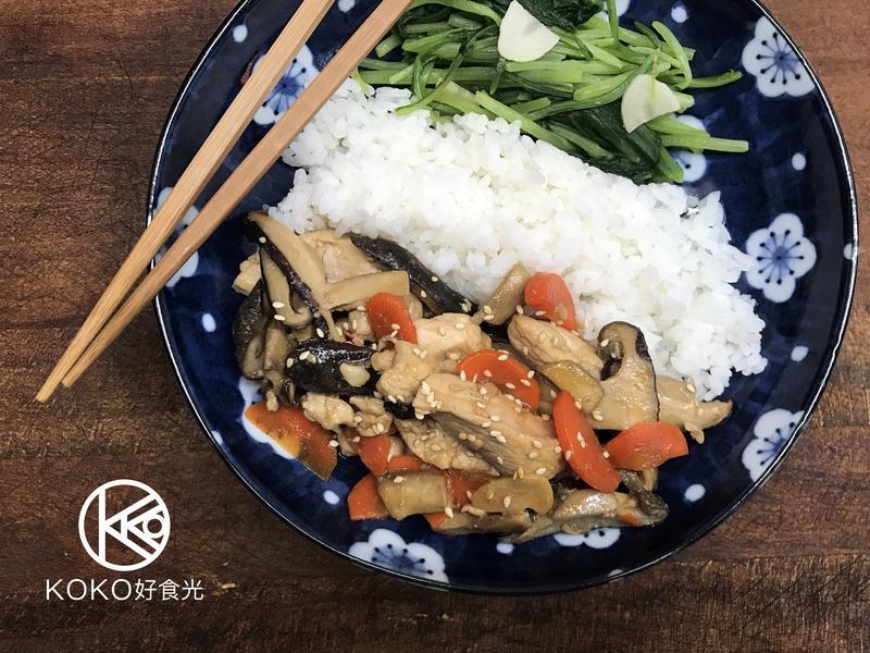 鮮香菇炒雞胸肉