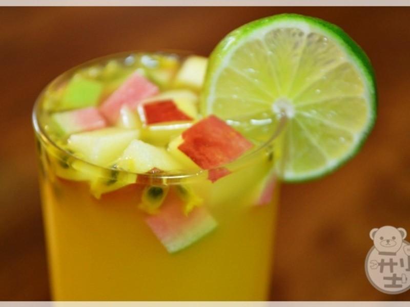 茶花水果綠茶