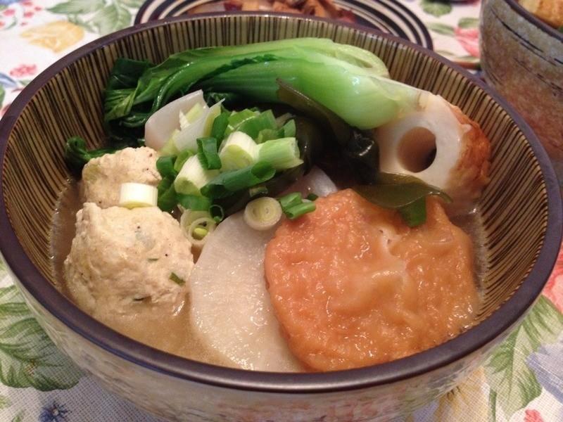 關東煮(自製雞肉丸子)
