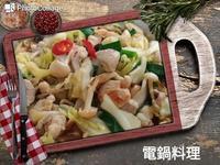 高麗菜雙菇雞肉