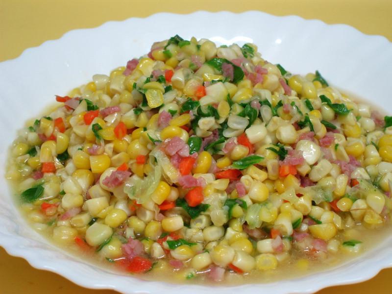 水果玉米培根炒