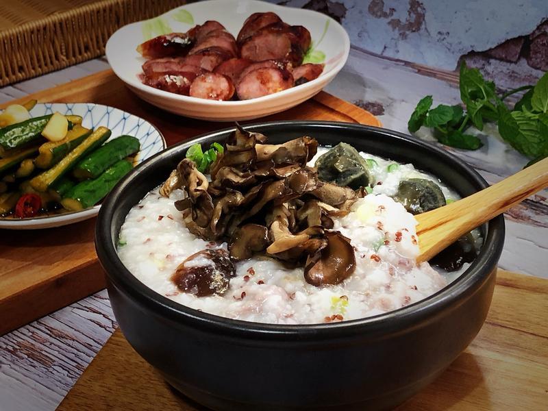 皮蛋舞菇粥 - 好菇道營養料理