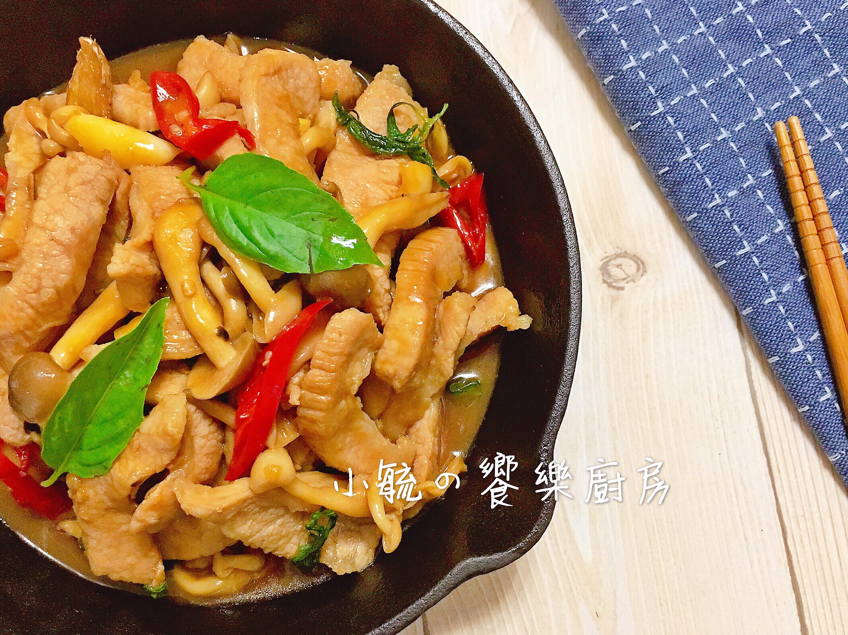 三杯菇菇松阪豬 【好菇道營養料理】